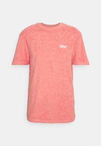 TOPOS SHAVED TERRY  - T-shirt imprimé - neon coral