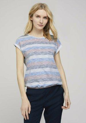 GESTREIFTES - Print T-shirt - blue multicolor stripe