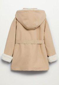 Mango - Short coat - zand - 1