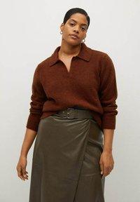 Violeta by Mango - OLIVE - Wrap skirt - olive - 3