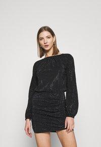 Diesel - D-RENEE-BLING-V2 DRESS - Jersey dress - black - 0