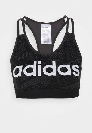 Medium support sports bra - black/white