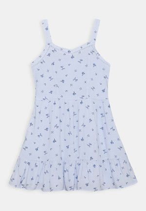 TIERED DRESS - Day dress - blue