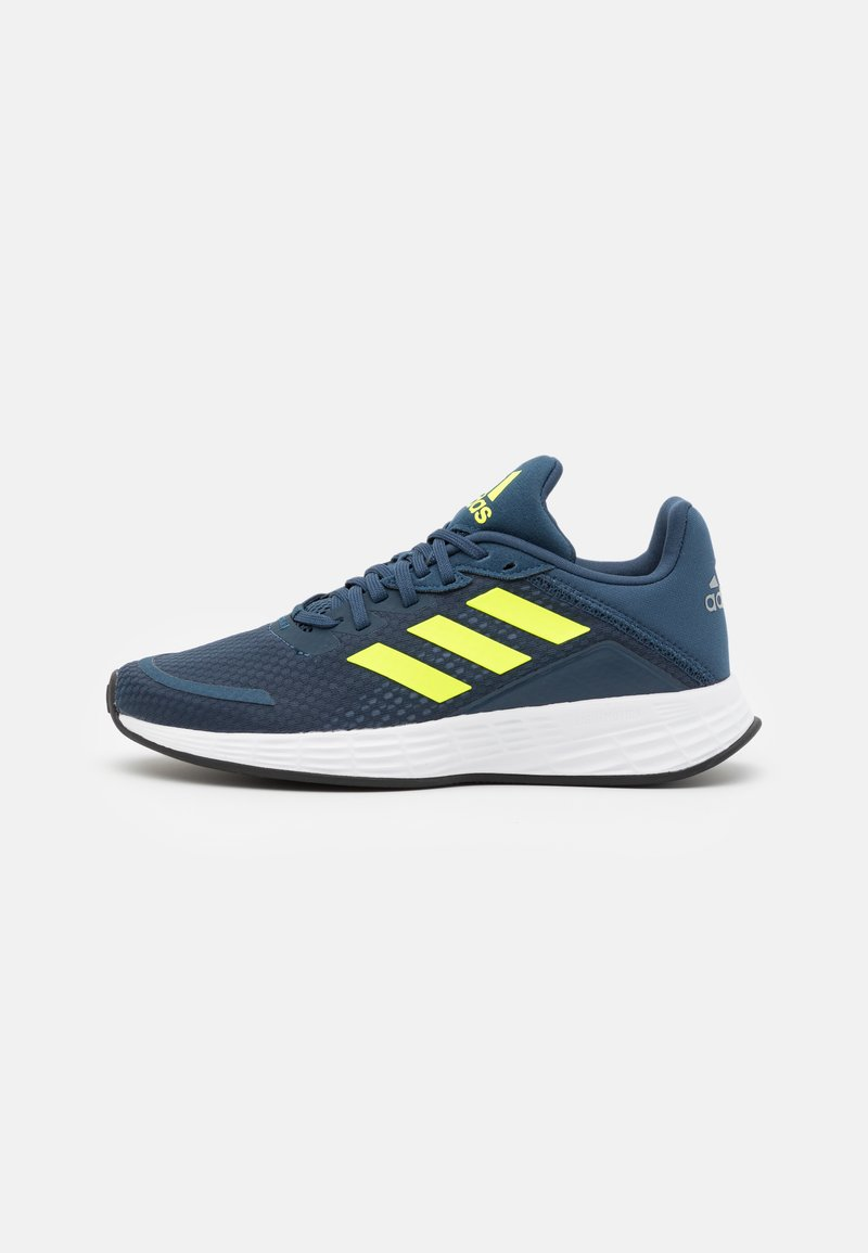 adidas Performance - DURAMO  - Sports shoes - crew navy/solar yellow/halo silver