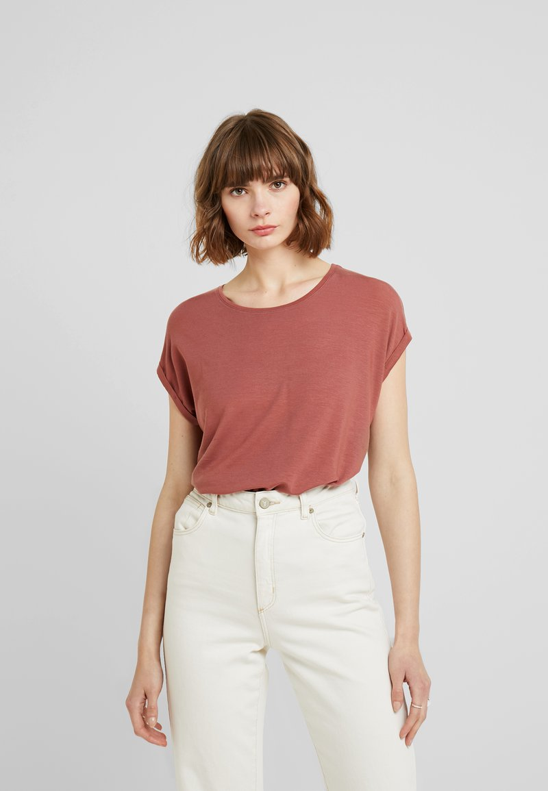 Vero Moda - VMAVA PLAIN - T-shirt basic - mahogany