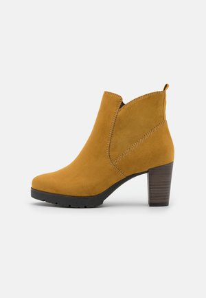 Classic ankle boots - mustard