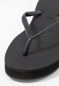 Havaianas - SLIM FLATFORM - Pool shoes - black - 2