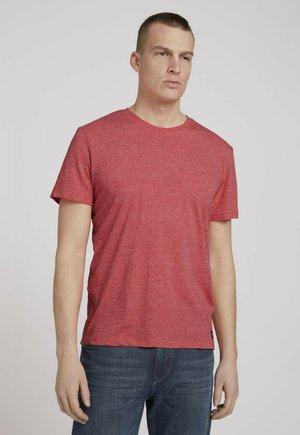 T-shirt - bas - plain red grindle melange