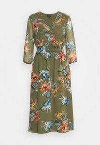More & More - DRESS LONG - Day dress - new khaki/multicolor - 0