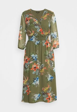 DRESS LONG - Day dress - new khaki/multicolor