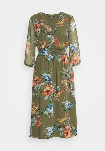 DRESS LONG - Day dress - new khaki/multicolor