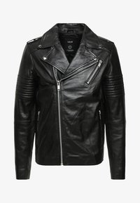 Solid - TRENT - Leather jacket - black - 4