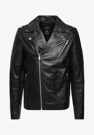 TRENT - Leather jacket - black