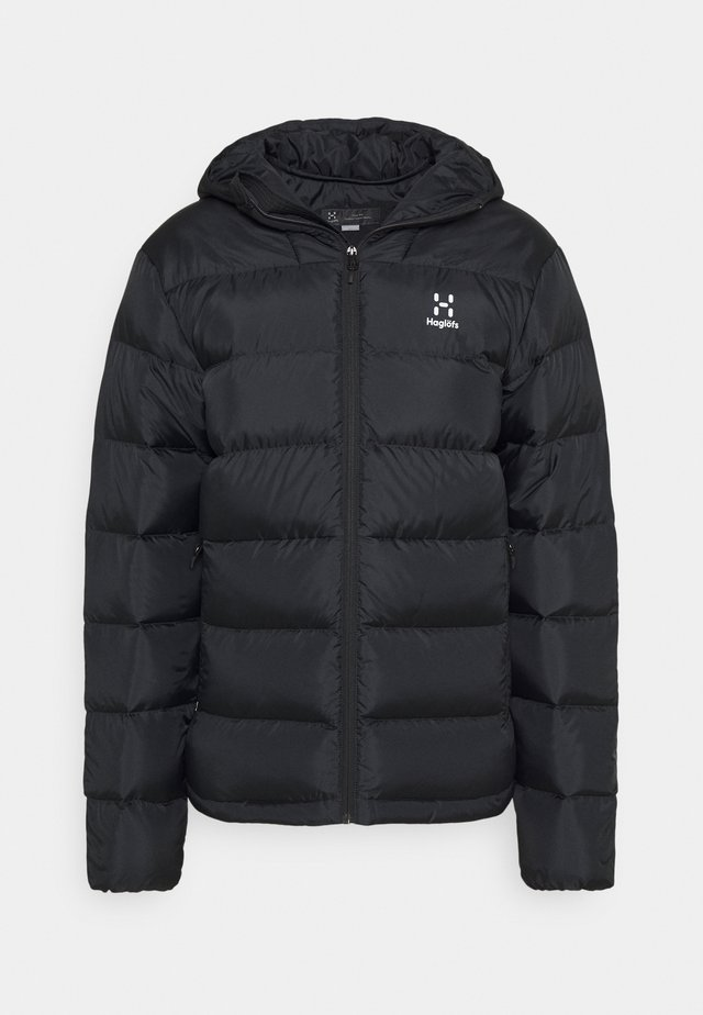 BIELD HOOD MEN - Down jacket - true black
