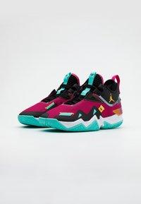 Jordan - WESTBROOK ONE TAKE - Koripallokengät - vivid pink/laser orange/black/dynamic turquoise - 1