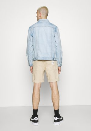 WASHED RIPPED WESTERN JACKET - Chaqueta vaquera - blue