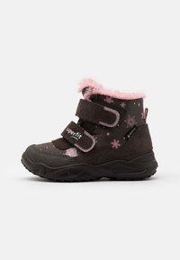 Superfit - GLACIER - Winter boots - braun/rosa - 0