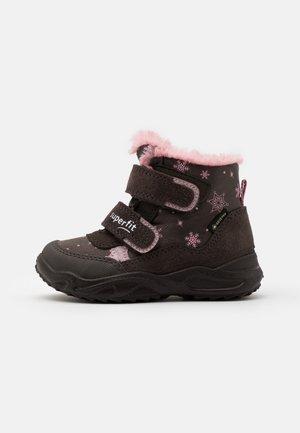 GLACIER - Zimní obuv - braun/rosa
