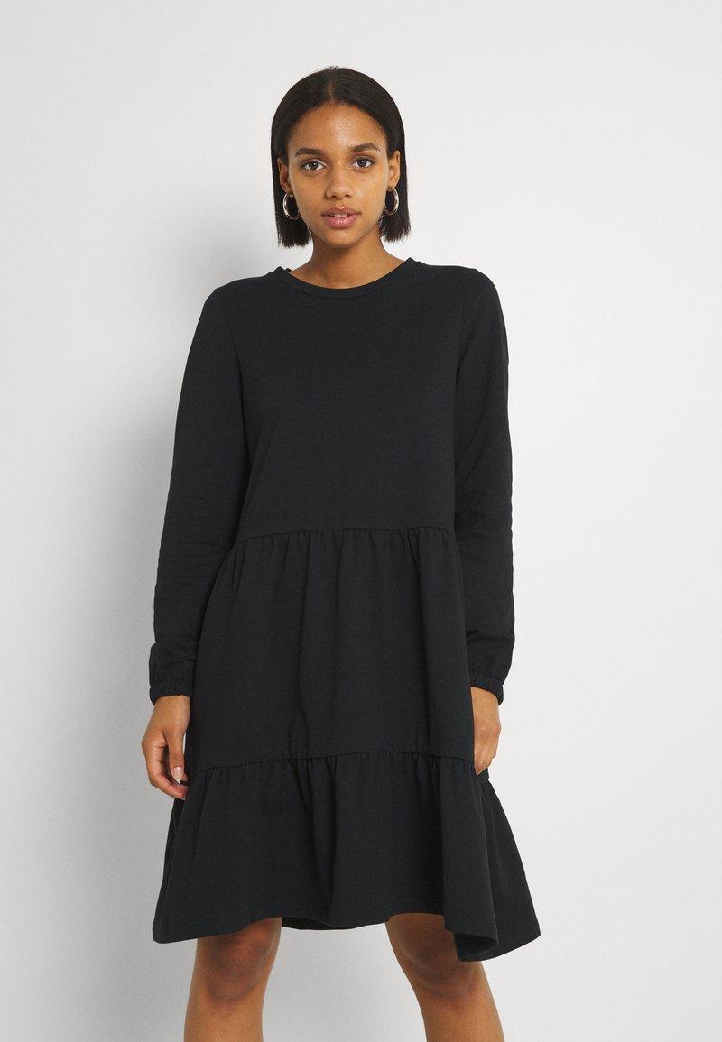 Vero Moda - VMAYAOCTAVIA NECK DRESS  - Trikoomekko - black