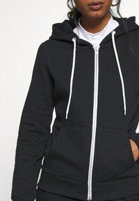 Even&Odd Petite - Zip-up hoodie - black - 5