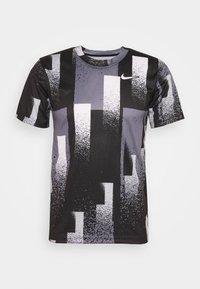 Nike Performance - DRY TOP - Camiseta estampada - black/white - 4