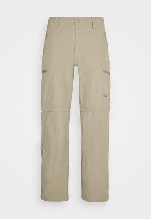 EXPLORATION CONVERTIBLE PANT - Spodnie materiałowe - dune beige