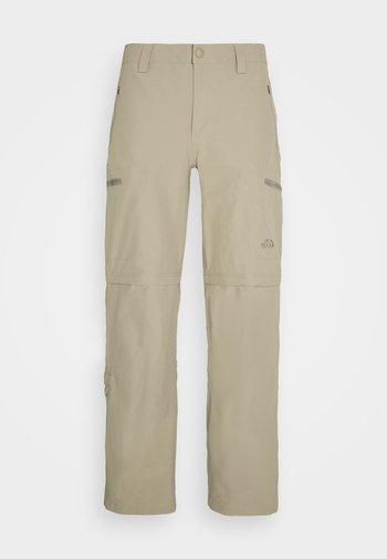EXPLORATION CONVERTIBLE PANT - Trousers - dune beige