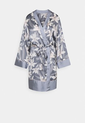 CONTRAST ROBE - Dressing gown - blue