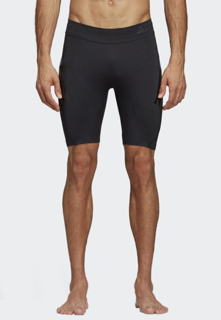 adidas Performance - ALPHASKIN TECH SHORT 3-STRIPES TIGHTS - Sports shorts - black