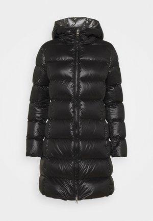 MID LENGTH MATTE - Short coat - black dark steel