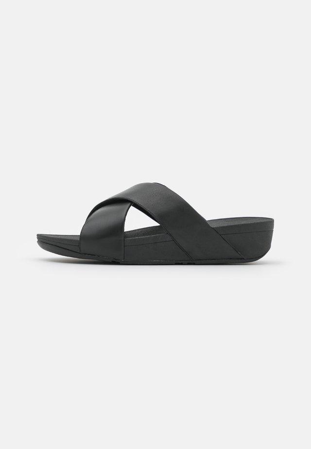 LULU CROSS SLIDE - Sandaler - black