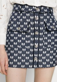 maje - JONALA - Mini skirt - nœuds marine - 3