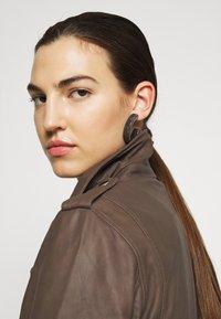 DEPECHE - JACKET - Leather jacket - dusty taupe - 4