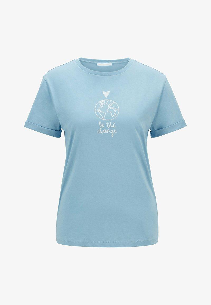 BOSS - Print T-shirt - light blue