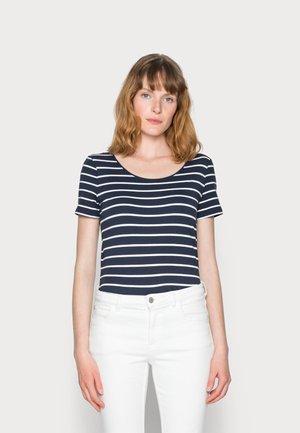 1/2 SLEEVE STRIPES - Print T-shirt - navy
