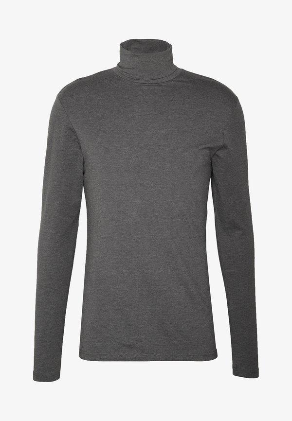 Pier One Bluzka z długim rękawem - dark gray/ciemnoszary Odzież Męska XFNB