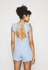 Missguided - BACKLESS - Overal - blue - 2
