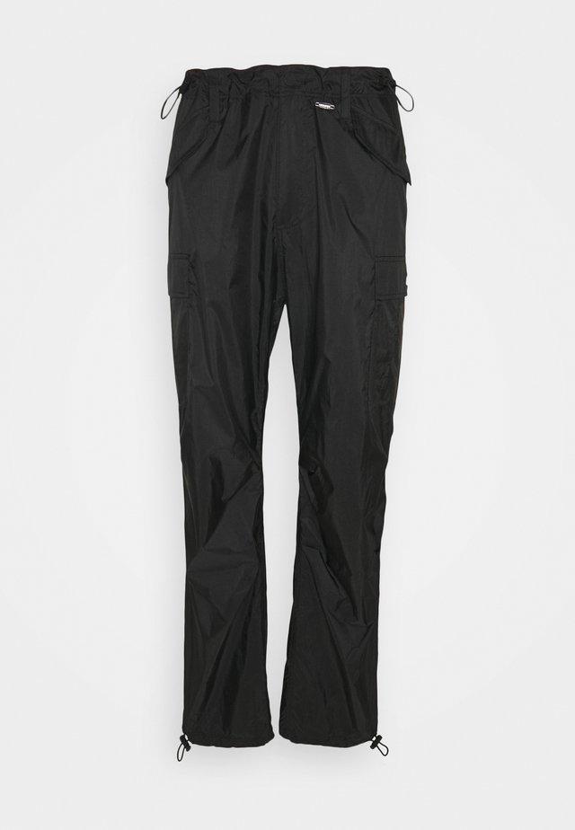 TRANSLUCENT PANTS - Pantalon cargo - black