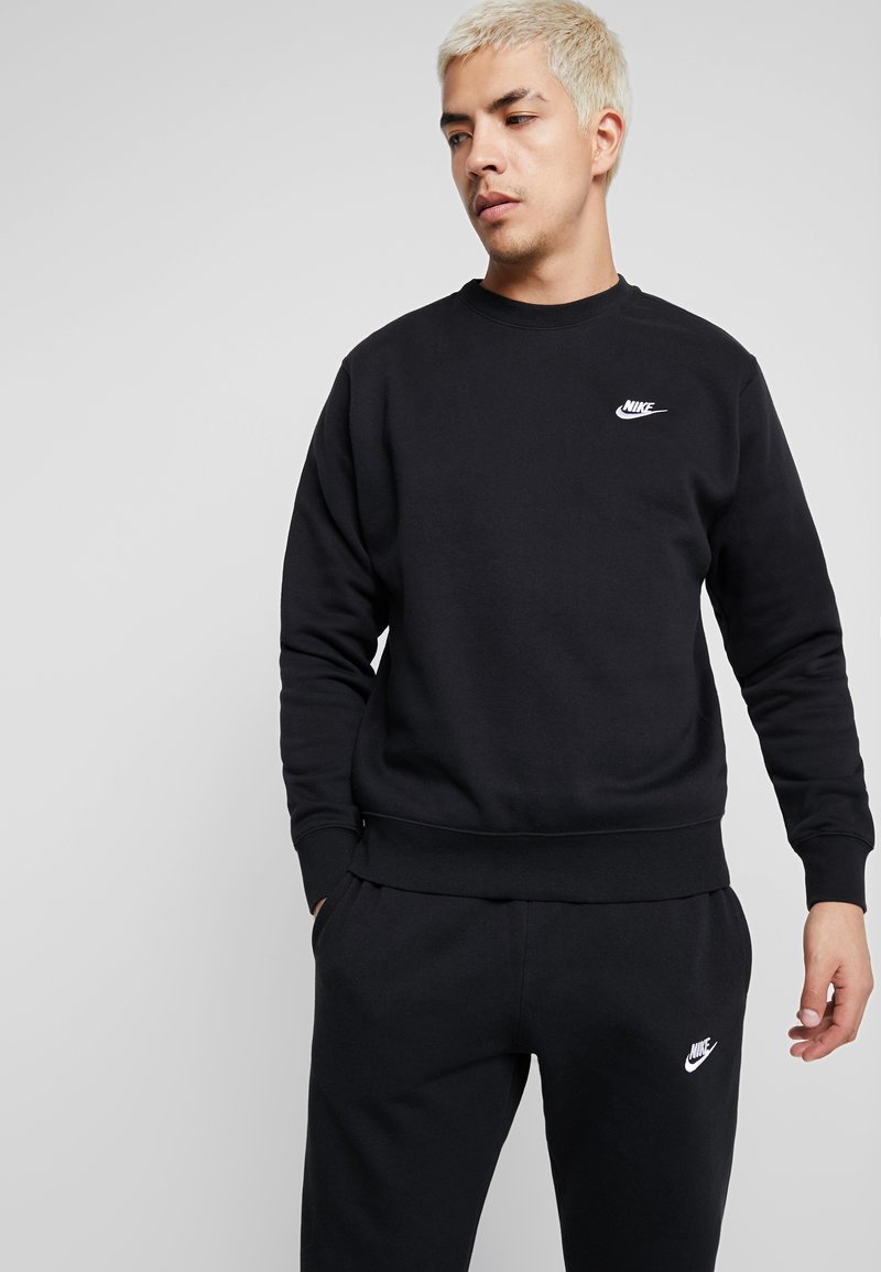 Nike Sportswear - CLUB - Sweatshirt - black/white