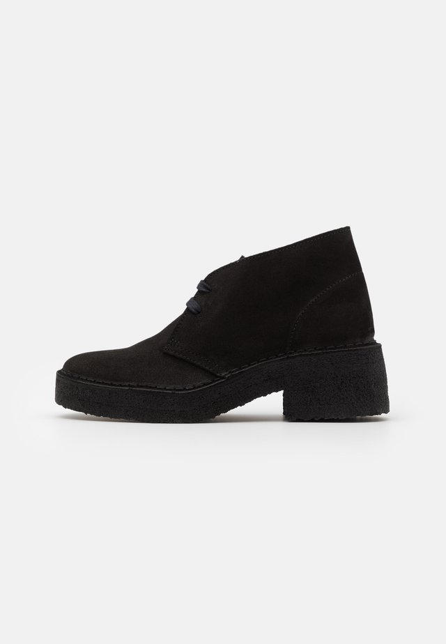 ARISA DESERT - Bottines à plateau - black