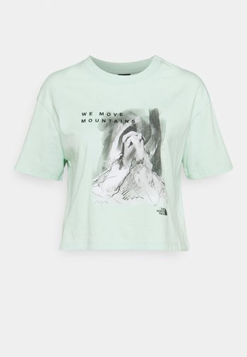 CROP TEE - T-shirt print - misty jade