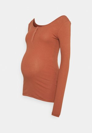 PCMKITTE - Långärmad tröja - copper brown