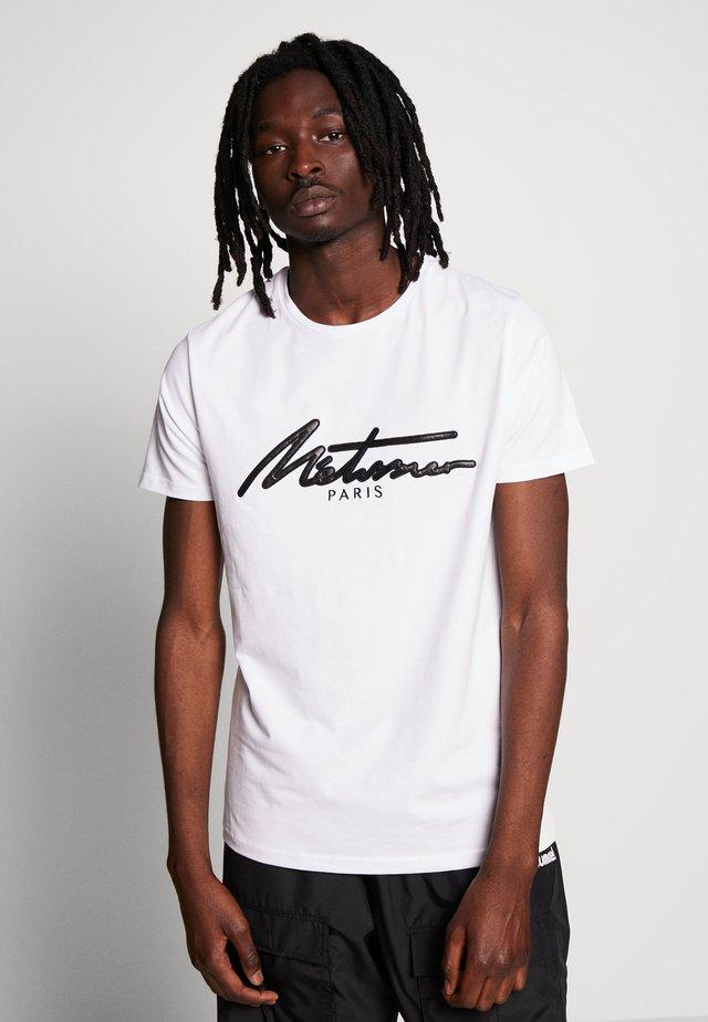 METISSIER VENLO T-SHIRT IN WHITE - T-shirts med print - white