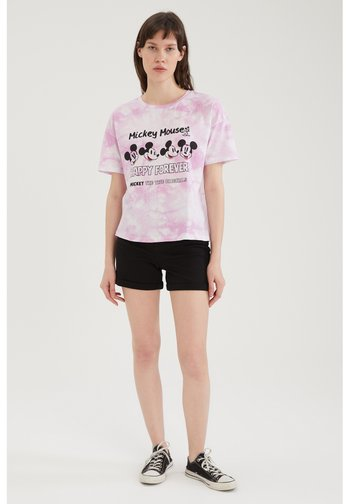 DISNEY - T-shirt con stampa - pink
