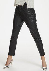 Denim Hunter - Leather trousers - black - 0