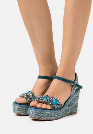 Sandalias con plataforma - ocean