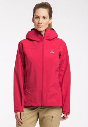 Hardshell jacket - scarlet red