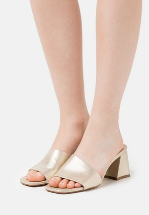 TED MULE - Heeled mules - champagne