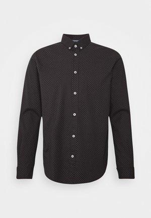 REGULAR PRINTED - Shirt - black/burgundy