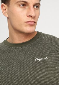 Jack & Jones - JORHIDE CREW NECK - Collegepaita - forest night - 4